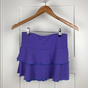 Cat & Jack purple ruffle mini skirt